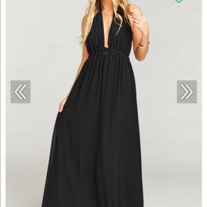 Black maxi Show Me Your MuMu dress